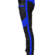 MENS-SEXY-REAL-BLACK-BLUE-LEATHER-MOTORCYCLE-BIKERS-PANTS-JEANS-TROUSER-J5BLU-3