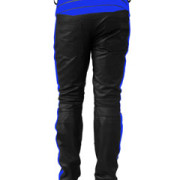 MENS-SEXY-REAL-BLACK-BLUE-LEATHER-MOTORCYCLE-BIKERS-PANTS-JEANS-TROUSER-J5BLU-4