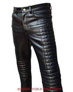 MENS-SEXY-REAL-BLACK-LEATHER-QUILTED-MOTORCYCLE-BIKERS-PANTS-JEANS-TROUSER-003