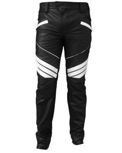 MENS-SEXY-REAL-BLACK-WHITE-LEATHER-MOTORCYCLE-BIKERS-PANTS-JEANS-TROUSER-J5WHT-1