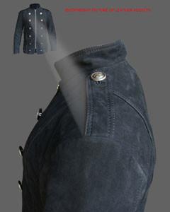 Mens-Pure-BLACK-NUBUCK-Leather-Military-Style-Steampunk-Jacket-SPJ3-BLK-3