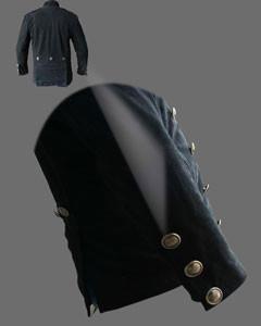 Mens-Pure-BLACK-NUBUCK-Leather-Military-Style-Steampunk-Jacket-SPJ3-BLK-4