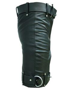 Mens-Pure-Leather-Chastity-Bondage-Shorts-Locking-REAR-ZIP-CS-3