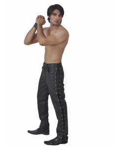NEW-100-Pure-Leather-Side-Laced-Mens-Jeans-Breeches-Biker-Jeans-BLUF-1