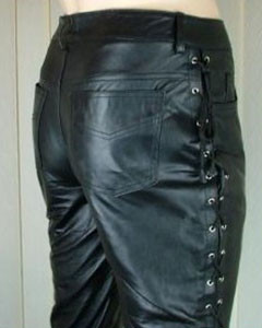 NEW-100-Pure-Leather-Side-Laced-Mens-Jeans-Breeches-Biker-Jeans-BLUF-3