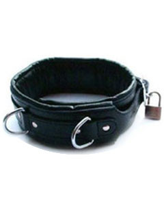 REAL-LEATHER-Heavy-Duty-Bondage-Neck-Collar-Puppy-Pet-play-NECK-REST-BLK-1