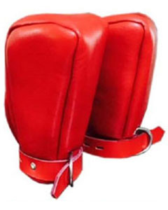 REAL-Soft-RED-SHEEP-Leather-Padded-Lined-Bondage-Fist-Mitts-Gloves-Mitts2-03