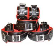 REAL-Top-Grain-RED-Black-Leather-Full-Set-of-7-Bondage-Restraints-01