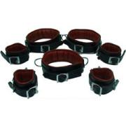 REAL-Top-Grain-RED-Black-Leather-Full-Set-of-7-Bondage-Restraints-02