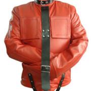 Red-Black-Pure-Leather-Bondage-Strait-Jacket-Gay-Fetish-With-Choice-of-Lining-1