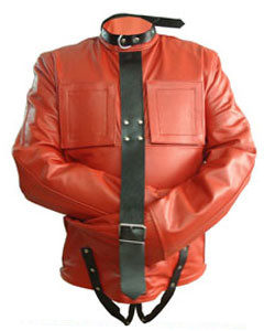 Red-Black-Pure-Leather-Bondage-Strait-Jacket-Gay-Fetish-With-Choice-of-Lining-1