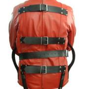 Red-Black-Pure-Leather-Bondage-Strait-Jacket-Gay-Fetish-With-Choice-of-Lining-2