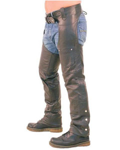 SEXY-100-HANDMADE-TOP-QUALITY-PURE-BLACK-LEATHER-MENS-CHAPS