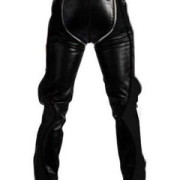 SEXY-REAL-BLACK-LEATHER-HEAVY-DUTY-BONDAGE-PANTS-JEANS-BLUF-GAY-R2-BLK-2