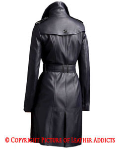Sexy-Ladies-Real-Black-Nappa-Sheep-Leather-Steampunk-Goth-Style-Trench-Coat-T10-2