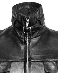 Sexy-Ladies-Real-Black-Nappa-Sheep-Leather-Steampunk-Goth-Style-Trench-Coat-T14-4