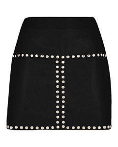 Sexy-Ladies-Real-Genuine-Soft-Sheep-Nappa-Leather-Black-Mini-Skirt