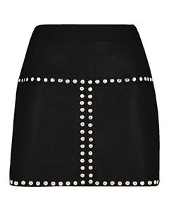Sexy-Ladies-Real-Genuine-Soft-Sheep-Nappa-Leather-Black-Mini-Skirt