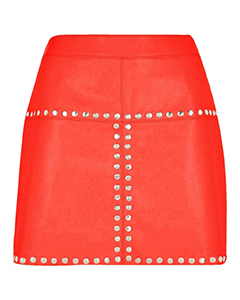 Sexy-Ladies-Real-Genuine-Soft-Sheep-Nappa-Leather-Red-Mini-Skirt-SK1-RED