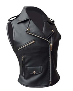 Very-Sexy-Womens-Ladies-Real-Black-Leather-Brando-Style-Bikers-Waistcoat-Vest-002