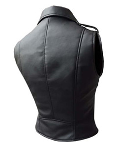 Very-Sexy-Womens-Ladies-Real-Black-Leather-Brando-Style-Bikers-Waistcoat-Vest-003