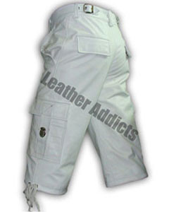 WHITE-LEATHER-COMBAT-CARGO-SHORTS-CARGO1-WHT-3
