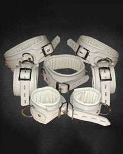 WHITE-Leather-Set-Of-5-Bondage-Restraints-REST7-WHT-1