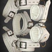 WHITE-Leather-Set-Of-5-Bondage-Restraints-REST7-WHT-2