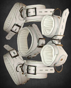 WHITE-Leather-Set-Of-5-Bondage-Restraints-REST7-WHT-2