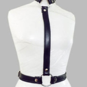 WOMENS-LADIES-SEXY-SLIM-BLACK-REAL-LEATHER-BODY-COLLAR-HARNESS-LH1-2