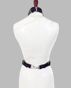 WOMENS-LADIES-SEXY-SLIM-BLACK-REAL-LEATHER-BODY-COLLAR-HARNESS-LH1-3