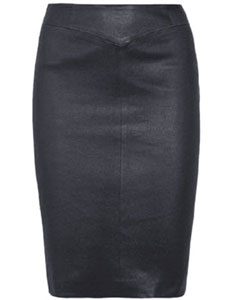 Ladies-SEXY-Real-Genuine-Soft-Sheep-Nappa-Leather-Black-Pencil-Skirt---(P2BLK)