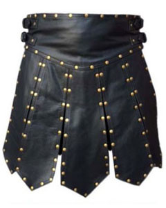 MENS-BLACK-LEATHER-GLADIATOR-KILT-K6-1