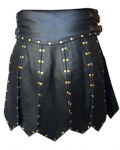 MENS-BLACK-LEATHER-GLADIATOR-KILT-K6-2