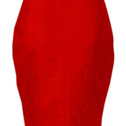 Sexy-Ladies-Genuine-Soft-Sheep-Nappa-RED-Leather-Pencil-Skirt-(P1-RED)-1