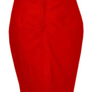 Sexy-Ladies-Genuine-Soft-Sheep-Nappa-RED-Leather-Pencil-Skirt-(P1-RED)-2