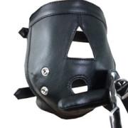 Real-Mens-Ladies-Black-Leather-Padded-Mask-Hood-Blindfold-Gag-Bondage-Gay-HD1-2