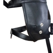 Real-Mens-Ladies-Black-Leather-Padded-Mask-Hood-Blindfold-Gag-Bondage-Gay-HD1-3