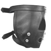 Real-Mens-Ladies-Black-Leather-Padded-Mask-Hood-Blindfold-Gag-Bondage-Gay-HD1-4