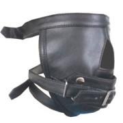 Real-Mens-Ladies-Black-Leather-Padded-Mask-Hood-Blindfold-Gag-Bondage-Gay-HD1-5