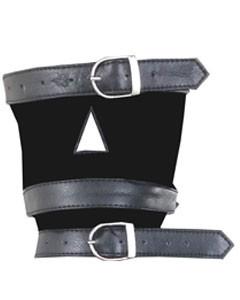 Real-Mens-Ladies-Black-Leather-Padded-Mask-Hood-Blindfold-Gag-Bondage-Gay-HD1-6