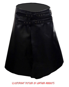 Mens-Real-Black-Cow-Leather-LARP-Kilt-With-Front-Fastening-Style-1
