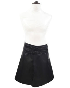 Mens-Real-Black-Cow-Leather-LARP-Kilt-With-Front-Fastening-Style-2