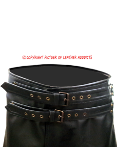 Mens-Real-Black-Cow-Leather-LARP-Kilt-With-Front-Fastening-Style-3