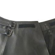 Mens-Real-Black-Cow-Leather-LARP-Kilt-With-Front-Fastening-Style-5