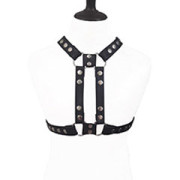 Mens-REAL-Black-Leather-Chest-Body-Harness-Gay-Bondage-Club-LARP-H10-3