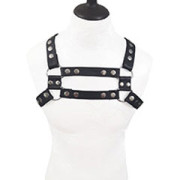 Mens-REAL-Black-Leather-Chest-Body-Harness-Gay-Bondage-Club-LARP-H10-4