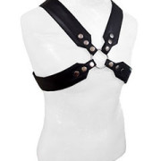 Mens-REAL-Black-Leather-Chest-Body-Harness-Gay-Bondage-Club-LARP-H8-3