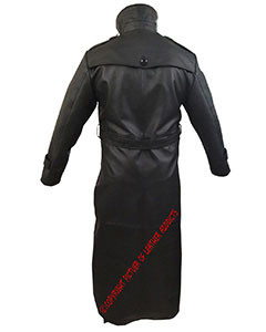 Mens-Sexy-Real-Black-Leather-Long-Matrix-Goth-Trench-Coat-Gothic-T17-3