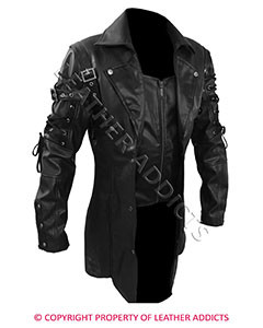 Mens-REAL-Black-Leather-Goth-Matrix-Trench-Coat-Steampunk-Gothic-Van-Helsing-1